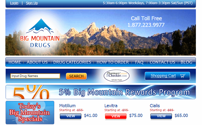 BigMountainDrugs - Is Big Mountain Drugs Pharmacy Legit?
