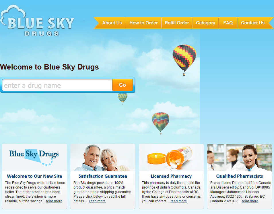 Blue Sky Drugs - A Trusted Online Pharmacy