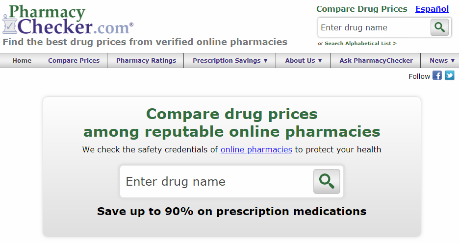 Pharmacy Checker Homepage