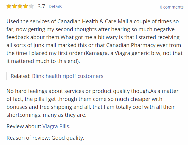 Positive Review for the Site