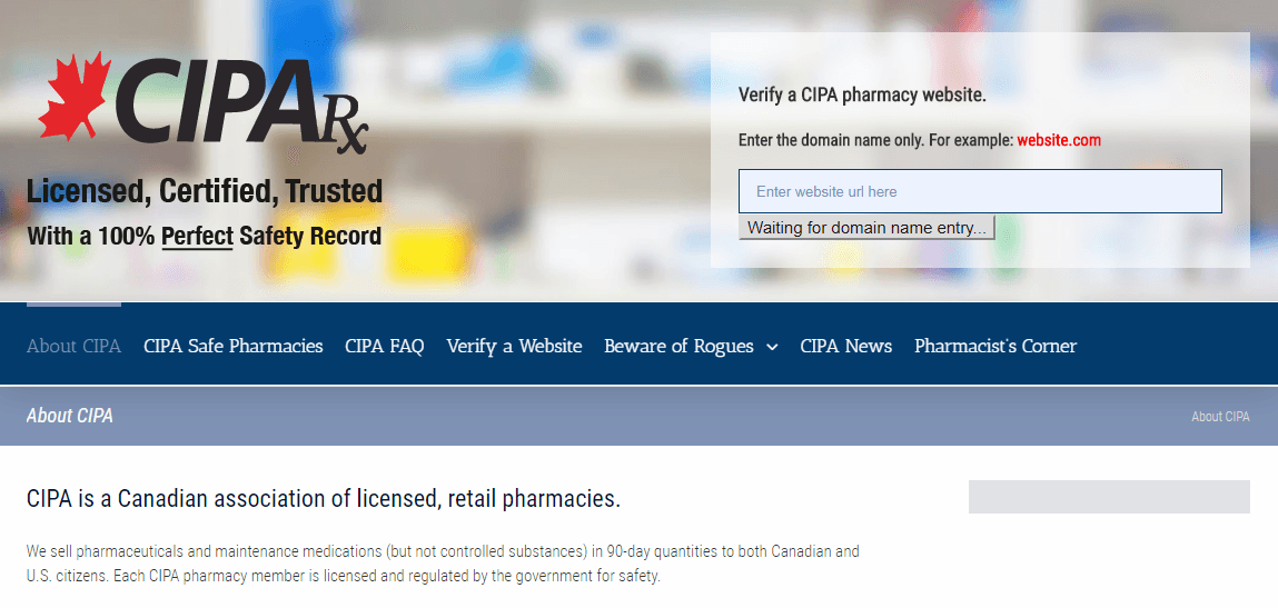 A Trusted Association of Canadian Pharmacies
