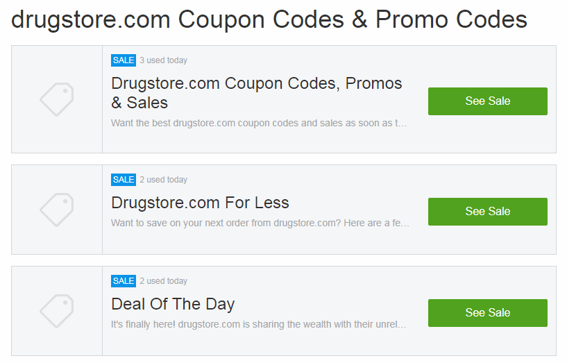 The Usual Layout of Coupons Codes