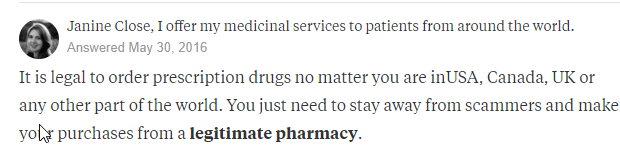 Ordering Meds from Canada
