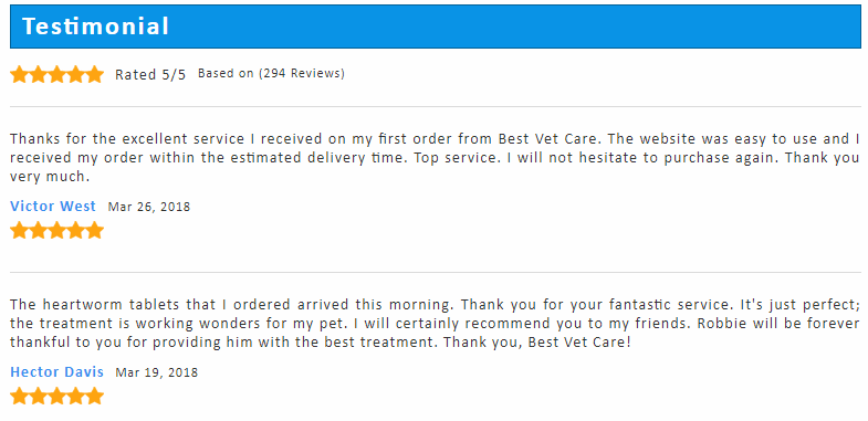 Five Star Testimonials from Different Customers