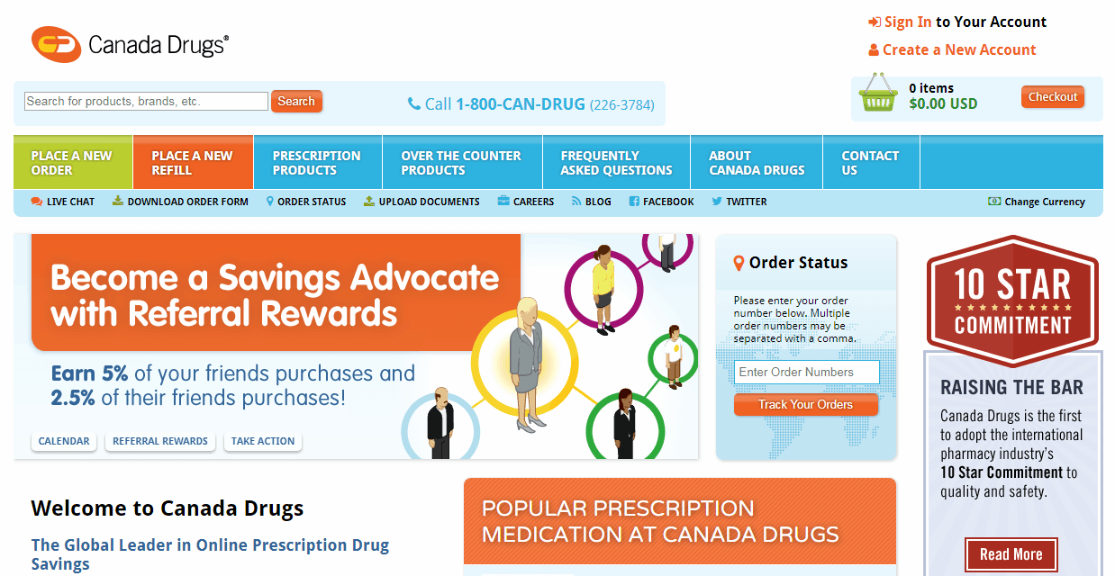 Canada Drugs Homepage