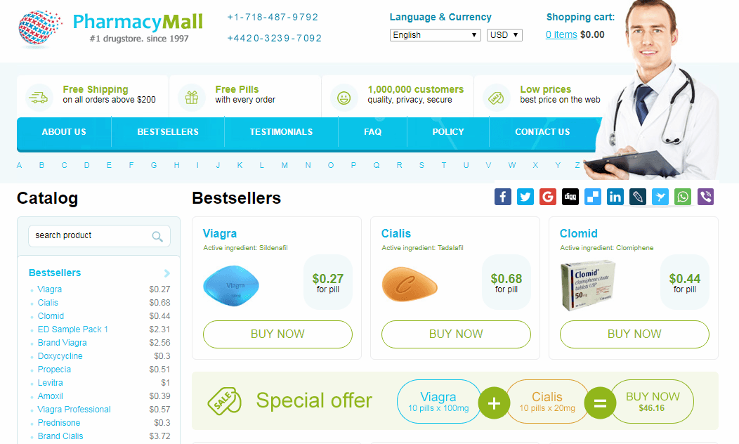 Pharmacy Mall Homepage